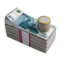 Штоф для водки «Российские рубли»
