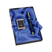 Набор «Акра»: ручка-зажигалка, пепельница