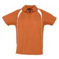 Спортивная рубашка поло «Palladium 140» (оранжевая с белым)