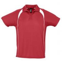 Спортивная рубашка поло «Palladium 140» (красная с белым)