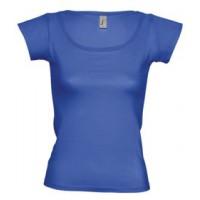 Футболка женская MELROSE 150 с глубоким вырезом, ярко-синяя (royal)