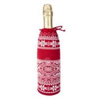 Чехол для шампанского «Скандик», красный