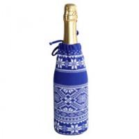 Чехол для шампанского «Скандик», синий (василек)