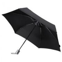 Зонт Alu Drop, 4 сложения, черный