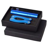 Подарочный набор Scout с многофункциональным ножом и фонариком, синий