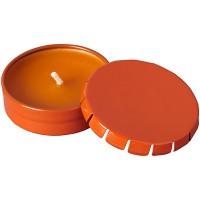 Свеча Bova в жестяной баночке, оранжевый