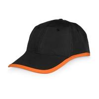 Бейсболка «Solo», черный/оранжевый