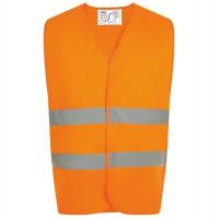 Жилет светоотражающий SECURE PRO оранжевый неон, размер 10/14 лет
