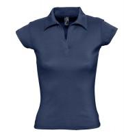 Рубашка поло женская без пуговиц PRETTY 220 кобальт (темно-синий), размер L