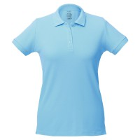 Рубашка поло женская Virma lady, голубая, размер L