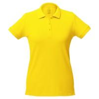 Рубашка поло женская Virma lady, желтая, размер L