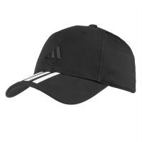 Бейсболка SIX-PANEL CLASSIC 3-STRIPES черная, размер 54