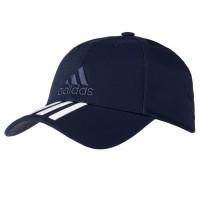 Бейсболка SIX-PANEL CLASSIC 3-STRIPES темно-синяя, размер 54