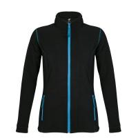 Куртка женская NOVA WOMEN 200, черная с ярко-голубым, размер L