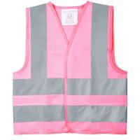 Жилет детский светотражающий Glow, M, розовый