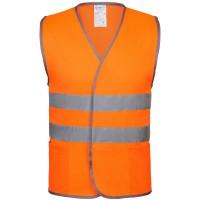 Жилет светоотражающий, оранжевый неон, размер 3XL