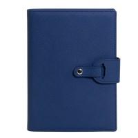 Ежедневник-портфолио Passage, синий, эко-кожа, недатированный кремовый блок, подарочная коробка