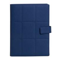 Ежедневник-портфолио Royal, синий, эко-кожа, недатированный кремовый блок, подарочная коробка