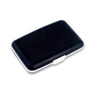 Футляр для 7 кредитных карт со съемной чёрной прорезиненной поверхностью