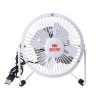Настольный мини-вентилятор, работает от USB, белый