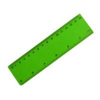Линейка 15см, цвет зеленый