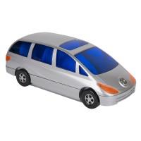 "CD-холдер ""Автомобиль"" для 80 дисков; серебристый; 34,5х14,4х12,5 см; пластик; тампопечать"