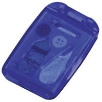 Набор швейный с зеркалом; синий; 7,5х4,9х1 см; пластик; тампопечать