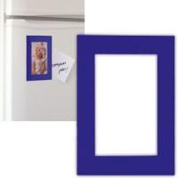 Фоторамка магнитная; синяя; 11,5х16,5х0,1см для фото 9х13см; пластик
