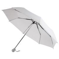 Зонт складной FANTASIA, механический, белый с серой ручкой