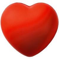 """Антистресс """"Сердце""""; красный; 7,6х7х5,4 см; вспененный каучук;"""