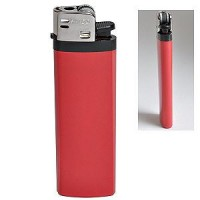 Зажигалка кремневая ISKRA, красная, 8,18х2,53х1,05 см, пластик/тампопечать