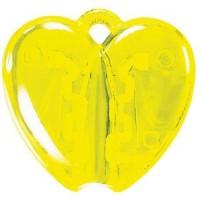 HEART CLACK, держатель для ручки, прозрачный желтый, пластик