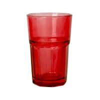 Стакан GLASS, красный, 320 мл, стекло