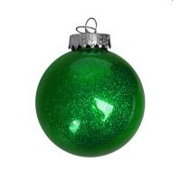 Шар новогодний FLICKER, диаметр 8 см., пластик, зеленый