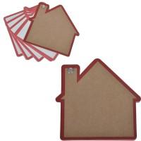"Промо-блокнот ""Дом"", красный, 13х12,5х0,9см, картон, бумага"