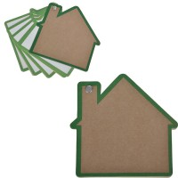 "Промо-блокнот ""Дом"", зеленый, 13х12,5х0,9см, картон, бумага"