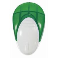 Мемо-холдер на липучке с держателем для авторучки; зеленый; 6,5х2,5х4 см; пластик; тампопечать