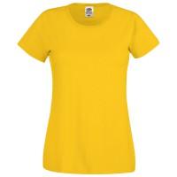 "Футболка женская ""Original T"", желтый_XS, 100% х/б, 145 г/м2"