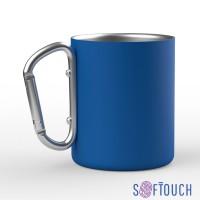 Металлическая кружка с покрытием soft touch, 0,3 л, синий